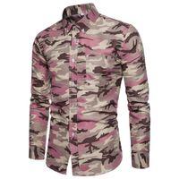 lässige, schmal geschnittene, stilvolle kleidung großhandel-US Luxury Stylish Herren Slim Fit Freizeithemden Langarmhemden Tops