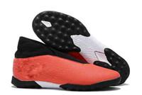 ingrosso i migliori stivali di sconto-2019 migliore qualità di vendita impermeabile bianco nero rosso di Mens Nemeziz 19,3 senza lacci TF scarpe da calcio di sconto Coppa del Mondo di calcio Stivali Dimensione 39-45