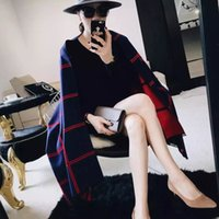 Wholesale pashmina free shipping scarf resale online - Maxi DHL Autumn and winter new simple fashion plaid striped cashmere scarf female warm shawl dual use