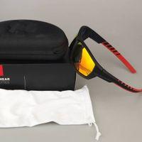 освещенные солнцезащитные очки оптовых-Велоспорт поляризованные очки Марка Открытый Бег Солнцезащитные очки Ultra Light езда Стаканы зонтами очки с Case Box аксессуары