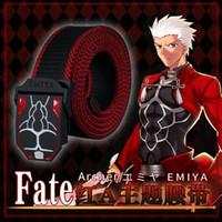 ingrosso accessori anime accessori-2019 Halloween Giappone Accessori Anime Fate Stay Night unisex Archer Eroe Cosplay Prop regalo Cintura di tela
