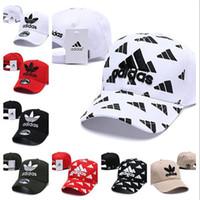 ingrosso cappello coreano nero-Adidas Hat Cap 2018 cappello maschio autunno e inverno versione coreana del berretto a vita bassa cappello selvaggio nero hip hop moda femminile ins berretto da baseball casual