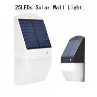 Wholesale fence mounted solar lights resale online - Solar Powered Wall Mount Lights LEDs Deck Lights Solar Outdoor Motion Sensor Security Lights for Garden Fence Path