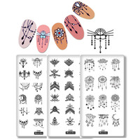 Wholesale images earrings resale online - 3Pc Nail Stamping Plates Earrings Pendants Necklace Flowers Mandala Charm Design Christmas Image Nail Art Template Print Stencil
