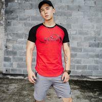 Wholesale thai clothing resale online - Running Jerseys Gym Clothing Wear shirt homme Muay Thai Fitness Men Fight Wear Wrestling tshirt Clothing