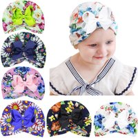 Wholesale newborn beanie flower for sale - Group buy Baby Hats Accessories Cute Newborn Infant Girl Boys Toddler Comfy Bowknot Cap Beanie Flower Hat Colorful Caps Kids