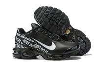 черный плюс размер дизайнеры оптовых-2018 PLUS TN 8909-GP Мужская дизайнерская обувь Desert Ore Черно-белые кроссовки Топ Мужчины Женщины 97s Спортивные кроссовки Размер 40-46