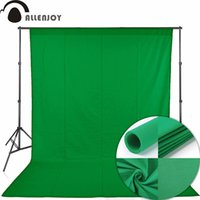 tejidos profesionales al por mayor-fondo fotográfico de Allenjoy Pantalla verde de Chromakey Fotografía de retrato incrustaciones Fondo No tejido Tejido Profesional para Ph ...