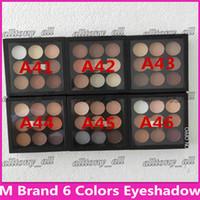 mat göz farı kitleri toptan satış-Makyaj Göz Farı Paleti Seti Bordo Göz Farı X9 Mat Saten Gözler Pro Renk 9 Kompakt Yüksek Kalite Kozmetik DHL Ücretsiz Kargo