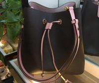 ingrosso sacchetto di fiore del drawstring-Borsa a secchiello in vera pelle moda donne famose designer borse coulisse fiore stampa crossbody borsa 3 colori