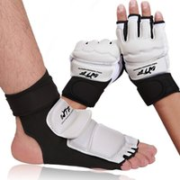 Wholesale shock gear for sale - Group buy Shock Absorption Taekwondo WTF ITF Ankle Protector Palm Protect Guard Judo Martial Arts Gloves Boxing Karate Equipment Y191202