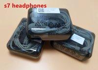 ingrosso cuffie ad alta volume-Auricolari di qualità per S7 S6 bordo Galaxy Headphone di alta qualità In Ear Headset con controllo del volume Mic per Iphone 5 6s WithRetailBox