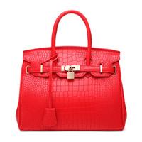 sacs pour les mariées achat en gros de-Crocodile modèle platine sac femme 2019 mode épaule épaule oblique oblique main sac de mariage mariée wrap rouge