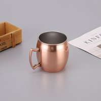 Wholesale 500ml Moscow Mule Mug Stainless Steel Hammered Mug Beer Cup Coffee Tea Plating Hammered Drum Cocktail Cups Hydration Gear CCA11114