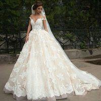 Wholesale wedding dresses turkey for sale - Group buy Vintage Turkey Plus Size Lace Ball Gown Wedding Dress Bridal Gowns Off Shoulder Princess Lebanon Illusion Arab Bride