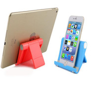 Wholesale universal tablet bracket online – ipad tablet bracket holder foldable hard pc stand mount holders for iphone s plus ipad galaxy s8 with retail pack