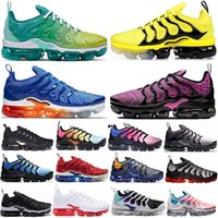 Wholesale bright boots for sale - Group buy Cheaper New Bumblebee Sunset Green TN Plus Running Shoes For Men women Rainbow GRAPE Bright Crimson Fades Hyper Volt Mens Trainers Sneaker
