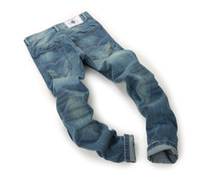 furo de ferro venda por atacado-Reta Designer Mens Jeans Slim Fit Buraco Lavado Não Engomadoria Verão Venda Quente High Street Jeans