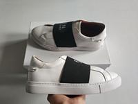 обувь для мужчин оптовых-Нового роскошного Париж ремешка кроссовок людей высшего качество оригинальной коробка вскользь удобная посадка обувь лучшего дизайнер 4G кроссовки для женщин белых