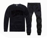 ingrosso billionaire boys club pants-2018 nuovo abbigliamento sportivo hip hop BILLIONAIRE BOYS CLUB abbigliamento casual da uomo autunno e inverno girocollo pullover con cappuccio camicia di alta qualità + pantaloni