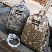 Wholesale hot school bags for girls resale online - Hot Sale PUBG Combat backpack high quality oxford material shoulder bag for men and women school bags color available