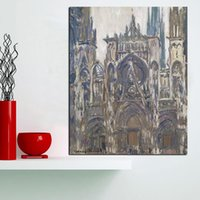 panel pared lienzo paris al por mayor-1 Unidades HD Imprimir Notre Dame De Paris Pintura Al Óleo Del Paisaje Arte de la Lona Poster Impresionista Wall Pictures No Frame
