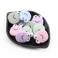 лягушка клипы оптовых-10PCS Frog Baby Silicone Teethers  Toy  Grade Silicone Teether DIY Teething Accessories for Pacifier Clips Making Gifts