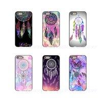 ingrosso copertina tribale iphone case-Pretty Mandala Tribal piuma Dreamcatcher Cover rigida per telefono cellulare Samsung Galaxy Note 3 4 5 8 S2 S3 S4 S5 MINI S6 bordo S7 S8 S9 Plus