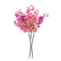 plantes artificielles violettes achat en gros de-Simulation Triangle Prune Maison Plante Décorer Longue Branche Fleurs Artificielles Fleur En Soie Rouge Pourpre Usine Ventes Directes 8 9ys C1kk