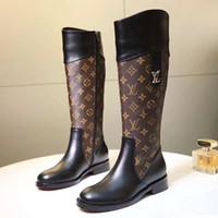 ingrosso stivali alti-Donna Stivali Scarpe Chaussures de femmes Lady Bottiglie di lusso Femme Zipper Moda donna Stivali da lavoro Hot F22 Scarpe alte Scarpe da donna Vendita calda
