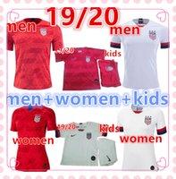 camisas de futebol de qualidade eua venda por atacado-Qualidade tailandesa 2019 Copa copa América do Mundo de Futebol Jersey LLOYD RIPINOE KRIEGER Estados Unidos 19 20 PULISIC EUA homens das mulheres Camisa de Futebol dos miúdos