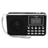 telas de exibição mini led venda por atacado-Portátil Mini Digital LED Screen Display Speaker FM Rádio Music Player Preto