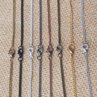 bronze taschenuhr kette groihandel-Bronze- / Silber- / Schwarz- / Gold- / Kupfer-Rot- / Gunmetal-Schwarz-Halsketten-Ketten-Taschenuhrkette mit Hummer-Verschluss 2mmx3mm 8Color 22inch 100pcs / lot