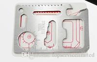 cuchillo de la tarjeta al aire libre al por mayor-250 unids caza caza supervivencia cuchillo de bolsillo 11 en 1 Multi herramientas cuchillo de tarjeta de crédito de acero inoxidable herramientas de supervivencia al aire libre