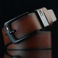 cinturón de tela amarilla al por mayor-2019 Nuevo cinturón de diseño Pin Hebilla cinturones de cuero para hombres Cinturones de diseño de lujo para hombre Cinturón de cintura de buena calidad