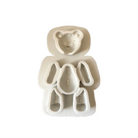 Wholesale cute baby cake mold for sale - Group buy Silicone D Bear Mold Cake Moulds Fondant Cute Baby Mold