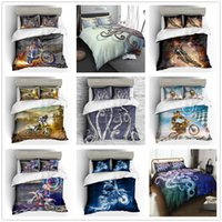 Wholesale king motorcycle resale online - Cartoon New Bedding Set with Pillowcase Motorcycle Octopus Duvet Cover Set Single Double King Size Soft for Kids Boys Bed Set