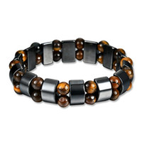 Wholesale style eyes beaded resale online - Simple Style Black Magnet Stone Chain Tiger s Eye Beads Health Care Bracelet for Men Women