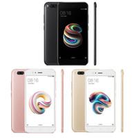 goophone 32gb оптовых-Оригинал Xiaomi Mi 5X Mi5X Мобильный телефон 4 ГБ 64 ГБ Snapdragon 625 CPU Dual 12MP Камера 1920x1080p Полностью металлический отпечаток пальца