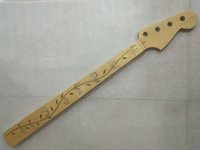 Wholesale finished guitar necks for sale - Group buy Fretless Electric Bass Guitar Neck Replacement Maple Fret gloss finished