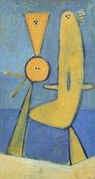 ingrosso dipinti astratti acqua-Dipinti ad olio astratti di Van Gogh Due animali che giocano in acqua Dipinto a mano astratta Figura olio su tela per la decorazione della parete