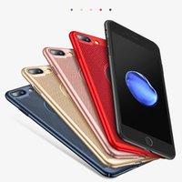 ingrosso casi cassa iphone-Custodia Ultra Slim per iPhone 6 6s 7 8 Plus Custodia per Dissipazione di calore Hollow PC rigido per iPhone 5 5S SE Cover posteriore Coque X S MAX