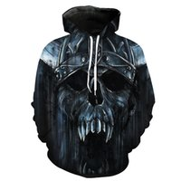 Wholesale mens 3d skull sweatshirt hoodie online – oversize Mens Luxury Designer Clothes D Skull Printing Casual Hoodie Young Men Fashion Hipster Sweatshirt Designer Hoodies