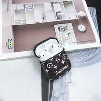 abs cover case оптовых-Дизайнерский чехол для Airpods ABS Защитный чехол Luxury Style Fashion Airpods Cases Дизайнерский чехол для наушников Подарок для Airpods 4 Styles