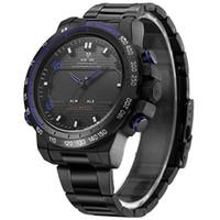 reloj de marcas de cuarzo weide al por mayor-WEIDE 6102 relojes de nylon genuino para hombre marca de lujo deportivo reloj de cuarzo reloj analógico automático de alarma reloj digital led