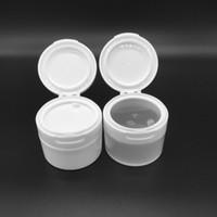 4oz plastikbehälter großhandel-4Oz 120G / ML Nachfüllbarer, weißer, leerer Make-up-Kunststofftopf mit innerem Klappdeckel Reise-Gesichtscreme / Lotion / Kosmetik-Vorratsbehälter PP
