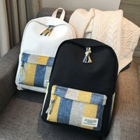 Wholesale cute college bag style for sale - Group buy 2019 Fashion Women Cute Lovely Canvas Girls Shoulder Computer Bag Backpack for Teenage College School Student Travel Bagpack