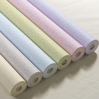 precios de papel tapiz al por mayor-Nuevo producto Envío gratuito Precio barato de papel tapiz 53cmx10m Color sólido Papel tapiz no tejido Salón Dormitorio Fondo de pared de hotel