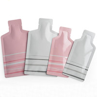 aluminium-flaschenpakete großhandel-Rosa / Weiß Flaschen-Form Reines Aluminium Foil Metall Paket Taschen Metallic Mylar Lebensmittel Vakuum-Verpackung Beutel Honig Flüssig Pulver Verpackungsbeutel