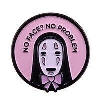 Wholesale spirits gift for sale - Group buy No face no problem Spirited Away enamel pin cute pun art brooch Ghibli anime fans gift